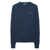 GANT Stretch Cotton Cable Crew Sweater Dam